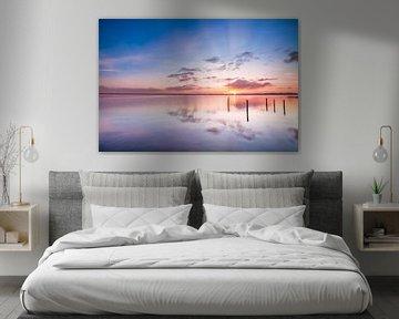 Ochtendgloren aan het Zuidlaardermeer van Ton Drijfhamer