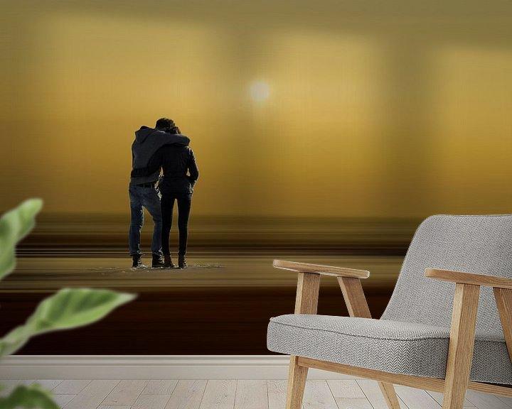 Beispiel fototapete: Minimalismus - Paar am Strand von Peter Roder