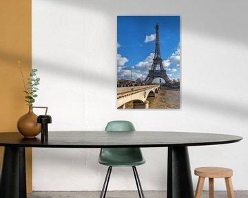 Blick zum Eiffelturm von Paris van Hans Altenkirch