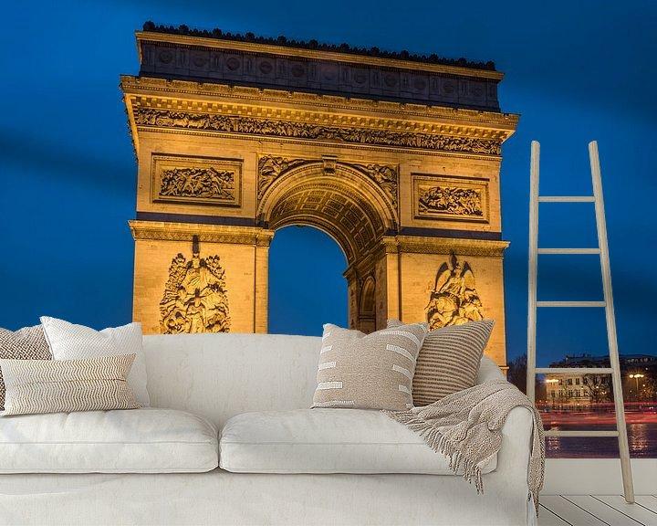 Sfeerimpressie behang: Arc de Triomphe Paris van Hans Altenkirch