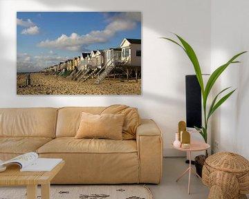Eenzame strandhuisjes in de zon van Ed de Cock