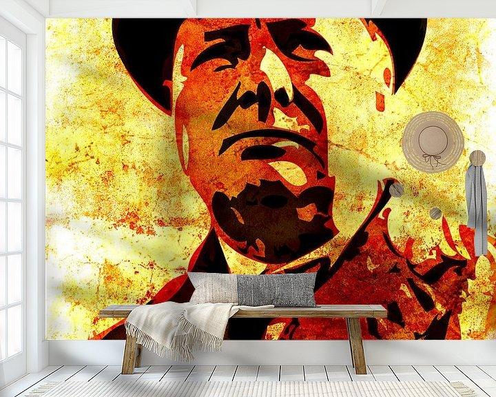 Sfeerimpressie behang: Winston Churchill van Maarten Knops