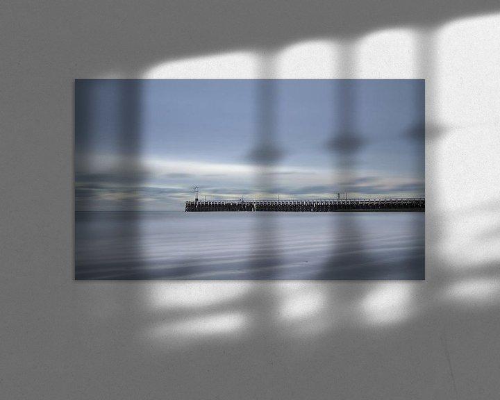 Sfeerimpressie: Nieuwpoort - pier - Long exposure  van Ingrid Van Damme fotografie