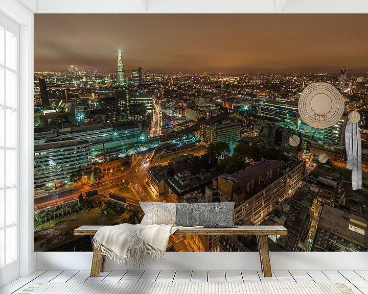 Sfeerimpressie behang: Londen Skyline van Bert Beckers