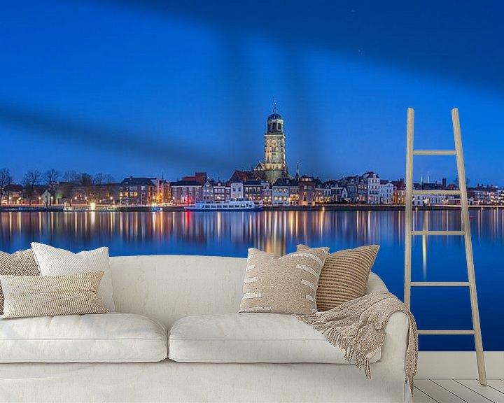 Impression: Photo panoramique de De welle à Deventer pendant l'heure bleue sur Ardi Mulder