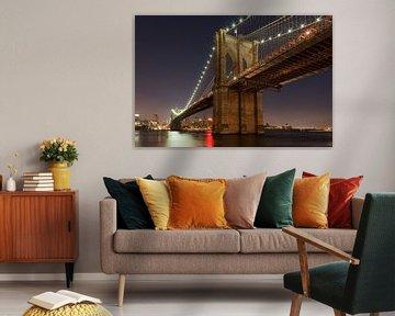 Onder de Brooklyn Bridge New York