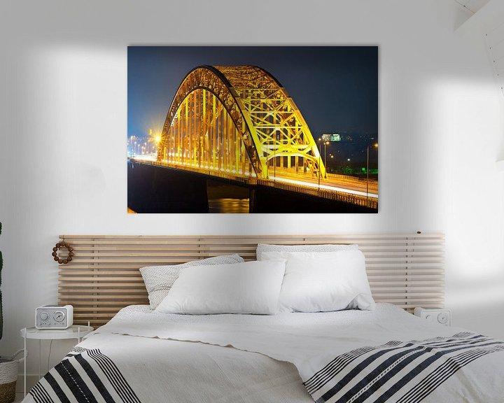 Sfeerimpressie: Waalbrug te Nijmegen van Anton de Zeeuw