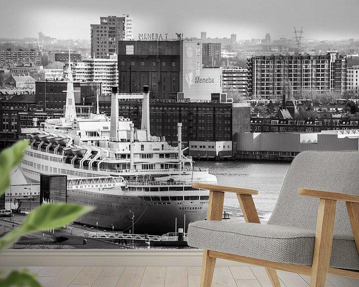 Sfeerimpressie behang: Oude Stoomschip de Rotterdam van Ton de Koning