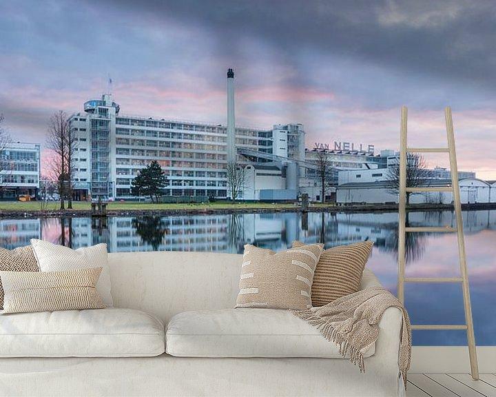 Sfeerimpressie behang: Van Nelle fabriek panorama van Ilya Korzelius