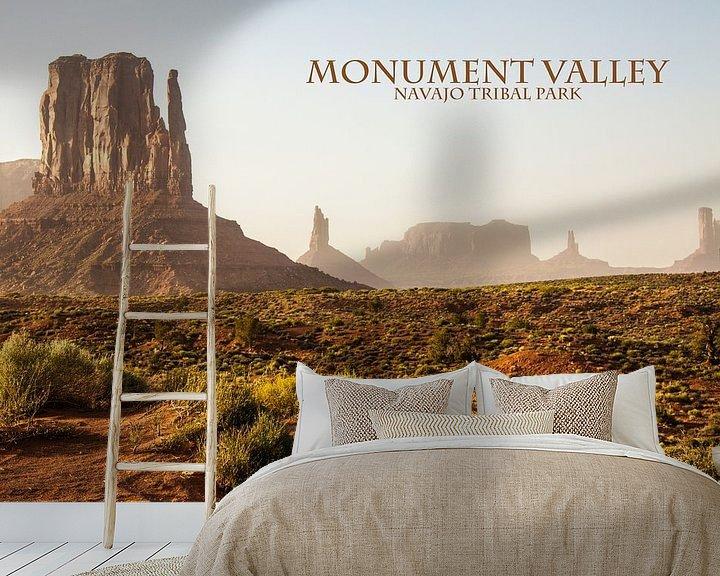 Sfeerimpressie behang: Monument Valley van Stefan Verheij