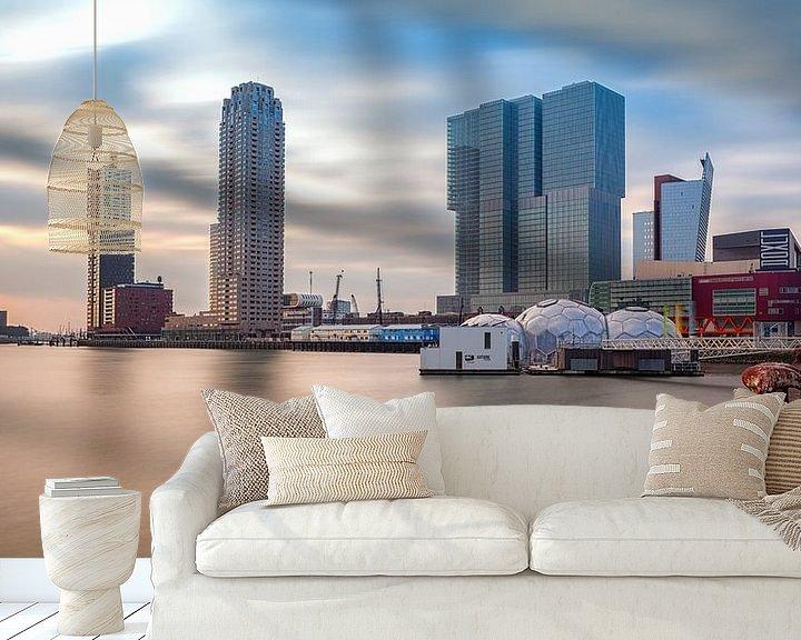 Sfeerimpressie behang: Rijnhaven (Nieuwe Luxor) Rotterdam van Rob van der Teen