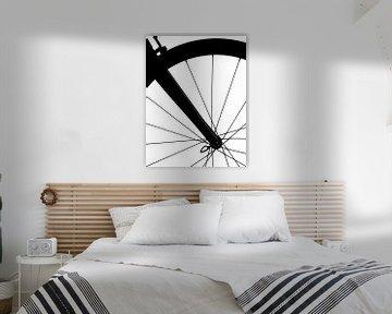 Voorwiel Fiets (zwart wit detail) von Kristian Hoekman