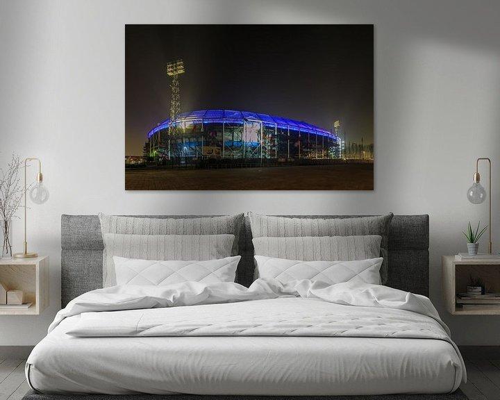 Sfeerimpressie: Feyenoord Rotterdam stadion De Kuip at Night - 6 van Tux Photography