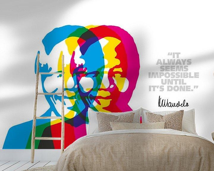 Beispiel fototapete: Nelson Mandela Zitat von Harry Hadders