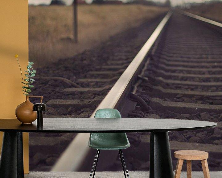 Sfeerimpressie behang: Track van Malte Pott