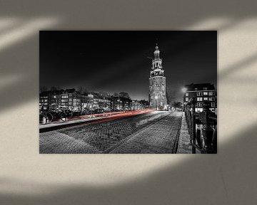 Amsterdam at night - Montelbaanstoren van Martijn Kort