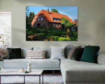 Farm House in the Luneburg Heath van Gisela Scheffbuch