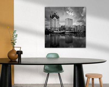 Oude Haven & Witte Huis Rotterdam(zwart-wit, vierkant) van Prachtig Rotterdam
