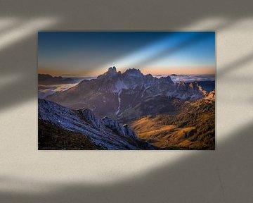 """Berglandschaft """"Das Letzte Licht"""" sur Coen Weesjes"""