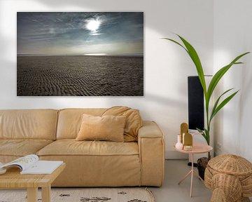IJmuiden strand in de winter van Hans Heemsbergen