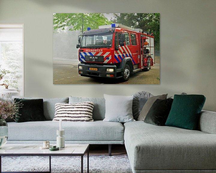 Beispiel: Stoere brandweerwagen von Arjan Penning