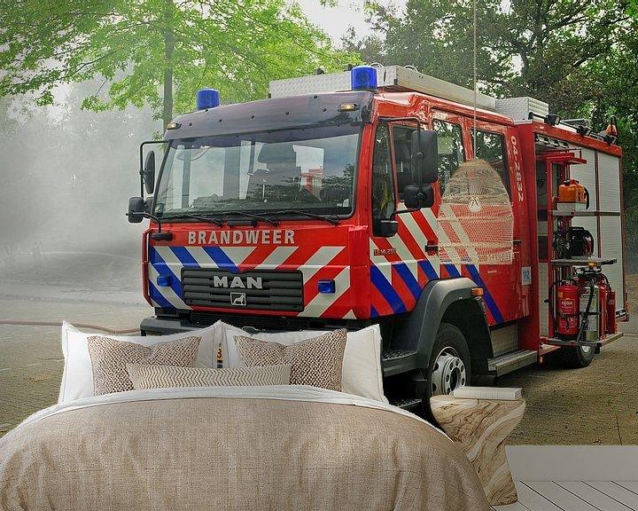 Beispiel fototapete: Stoere brandweerwagen von Arjan Penning