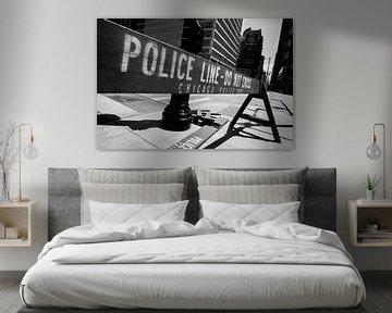 Police line - Do Not Cross! von Maarten De Wispelaere