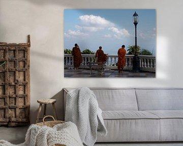 Monniken bij Doi Suthep van Roos Vogelzang