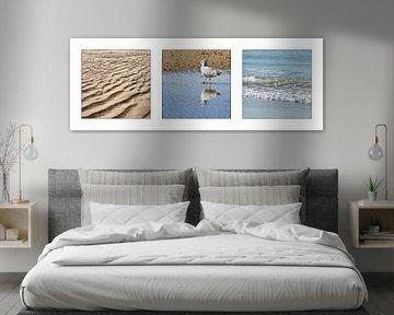 Drieluik zee en strand