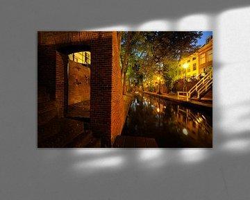 Nieuwegracht tussen Quintijnsbrug en Brigittenbrug in Utrecht van Donker Utrecht