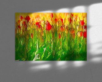 bunten Blumen von eric van der eijk