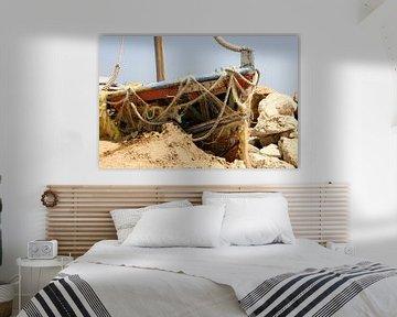 Schilderachtige boot in Griekenland van Arjan Groot
