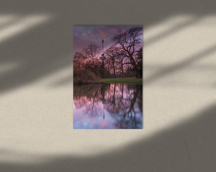 Sfeerimpressie: Euromast at sunset van Ilya Korzelius