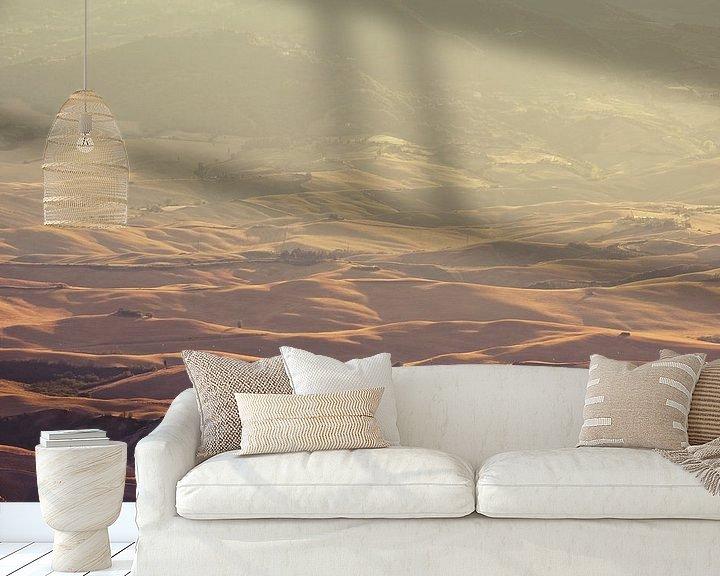 Sfeerimpressie behang: Toscaans Landschap van Jeroen Berends