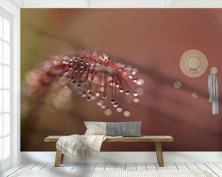 Sfeerimpressie behang: De gevaarlijke schoonheid van de Zonnedauw van Birgitte Bergman
