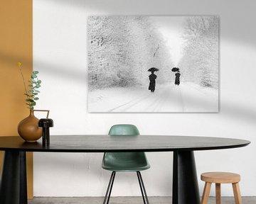 Paraplu in de sneeuw van marleen brauers