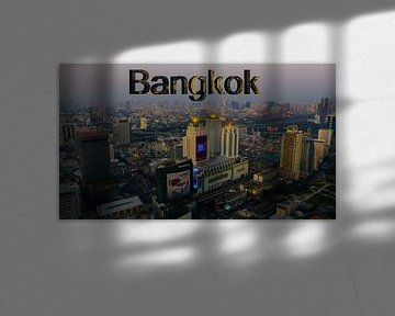 Skyline of Bankgkok van Loraine van der Sande