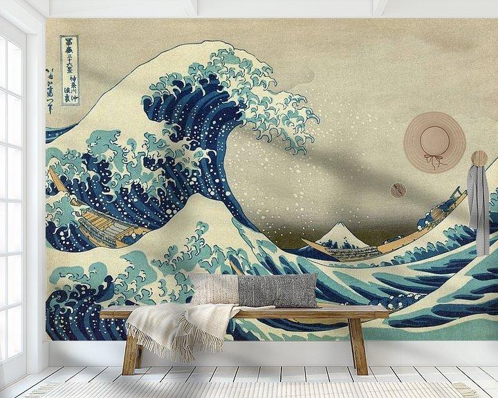 Beispiel fototapete: Die große Welle von Kanagawa, Hokusai