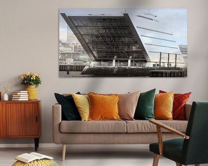Sfeerimpressie:  Kontorhaus Dockland in Hamburg van Peter Norden
