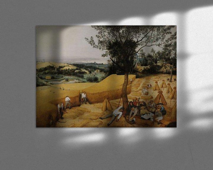 Beispiel: Die Kornernte (Hochsommer), Pieter Brueghel der Ältere
