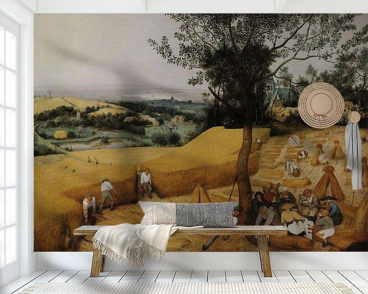 Beispiel fototapete: Die Kornernte (Hochsommer), Pieter Brueghel der Ältere
