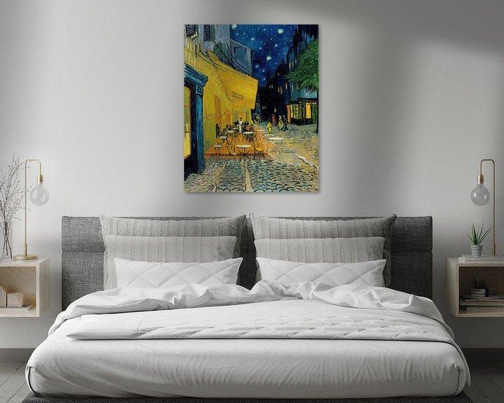Sfeerimpressie: Caféterras bij nacht van Vincent van Gogh