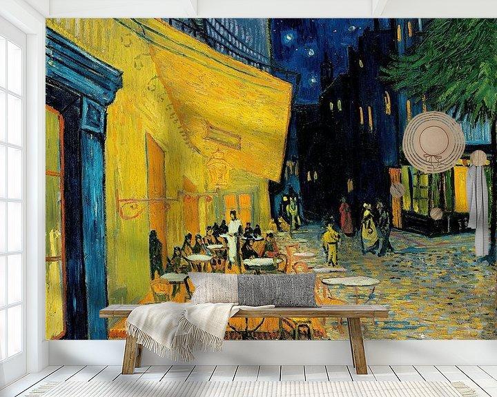 Sfeerimpressie behang: Caféterras bij nacht van Vincent van Gogh