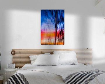 Sunset Tree van Robert Wiggers