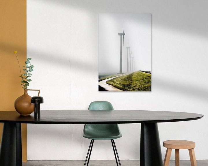 Sfeerimpressie: Windmolens in de mist van Studio  Milaan