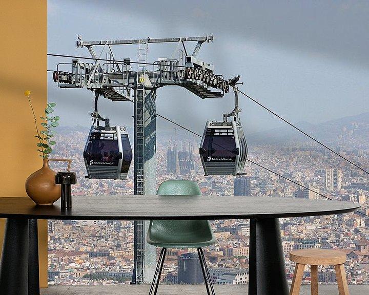Sfeerimpressie behang: [barcelona] - ... high above the rooftops (no.2) van Meleah Fotografie
