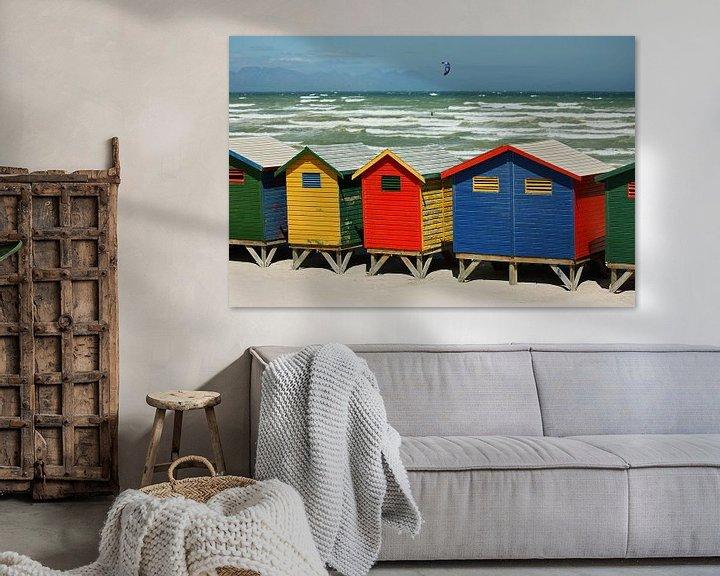 Sfeerimpressie: southafrica ... muizenberg beach huts II van Meleah Fotografie