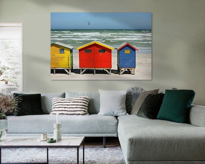 Sfeerimpressie: southafrica ... muizenberg beach huts I van Meleah Fotografie