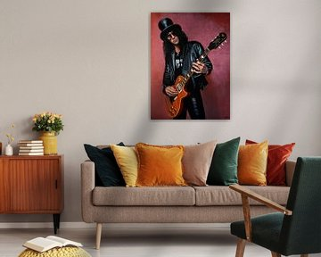 Slash Guns N' Roses Malerei von Paul Meijering
