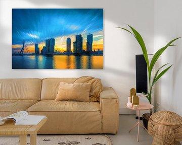 Stadtbild von Rotterdam von eric van der eijk